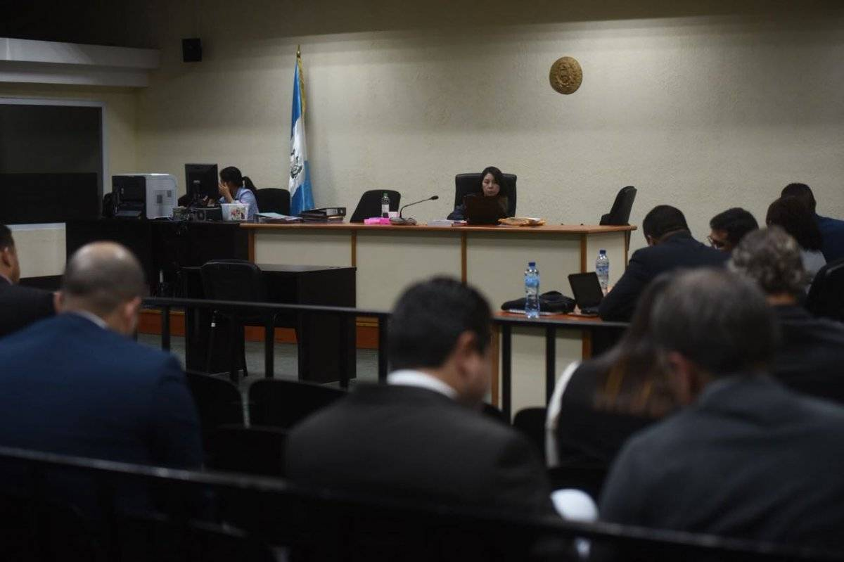 """MP pide juicio a la jueza Erika Aifán en contra de cuatro sospechosos en el caso """"Construcción y corrupción"""". Foto: Edwin Bercián"""