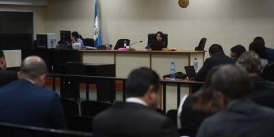 """MP pide juicio a la jueza Erika Aifán en contra de cuatro sospechosos en el caso """"Construcción y corrupción""""."""