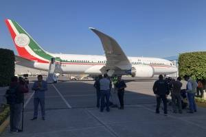 Avión presidencial TP01 realiza su último despegue desde AICM