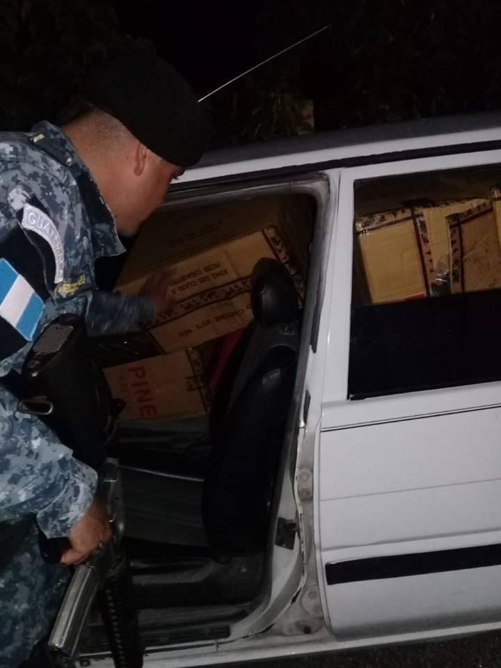 operativo permite decomiso de cigarros de contrabando en Petén