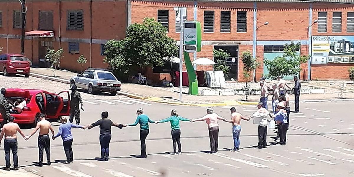 Assaltos a banco acabam com oito mortos no RS