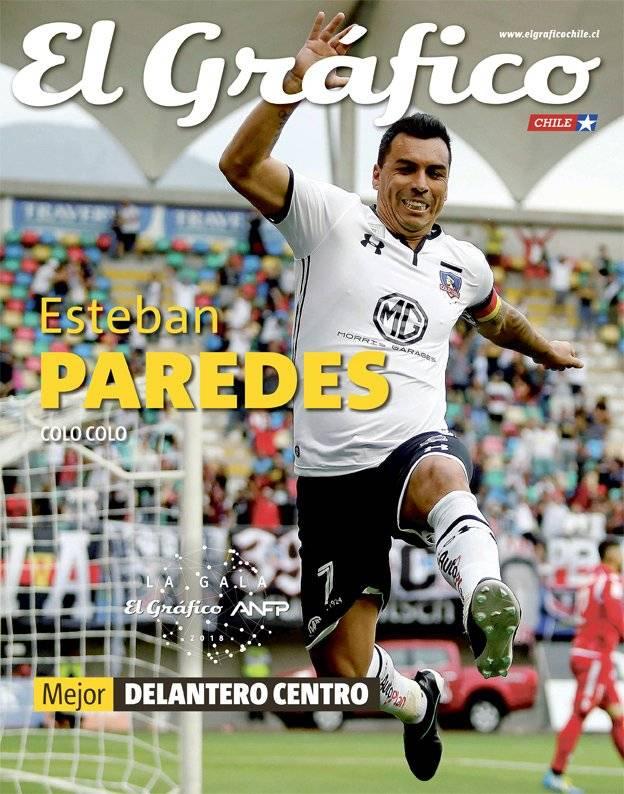Paredes se quedó con el mejor delantero centro / imagen: El Gráfico Chile