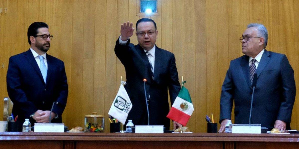 Germán Martínez Cázares rinde protesta como director del IMSS