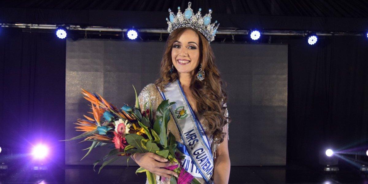 A sus 34 años, ingeniera en sistemas es coronada como Señora Guatemala 2018
