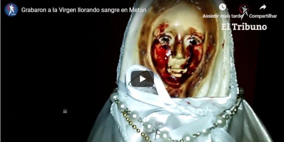 VÍDEO: imagem da Virgem Maria possivelmente chora sangue e faz milagres na Argentina