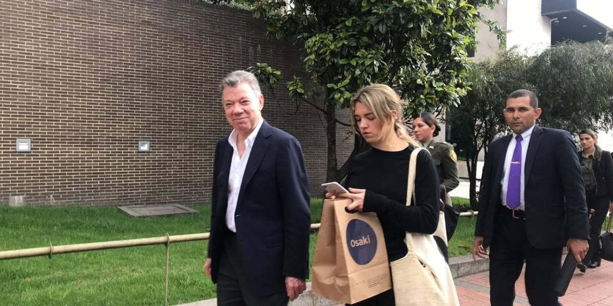 Así vieron a Juan Manuel Santos caminando por la séptima de Bogotá
