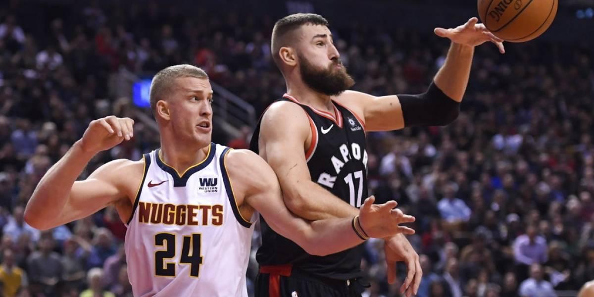 Denver Nuggets frenan la racha de los Raptors y sorprenden como líderes del oeste