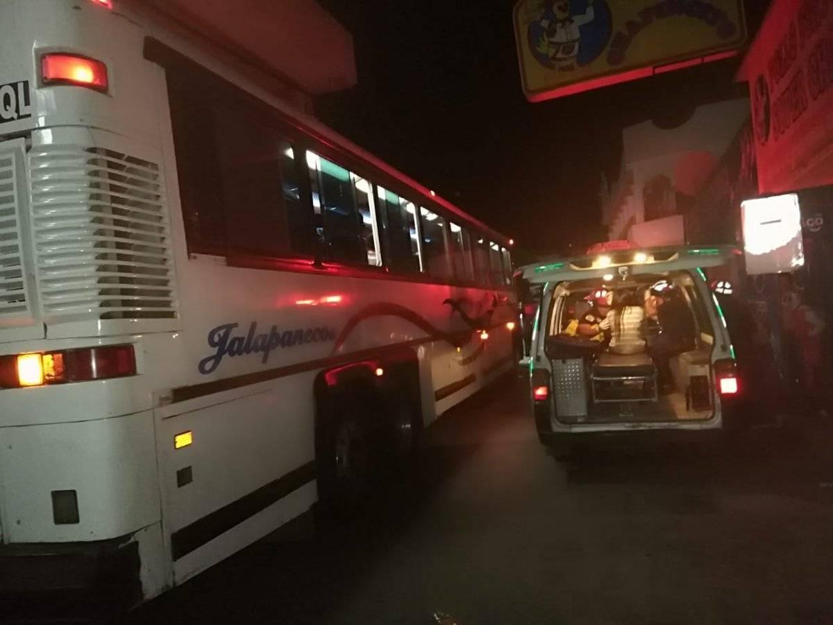 asalto a bus en El Progreso