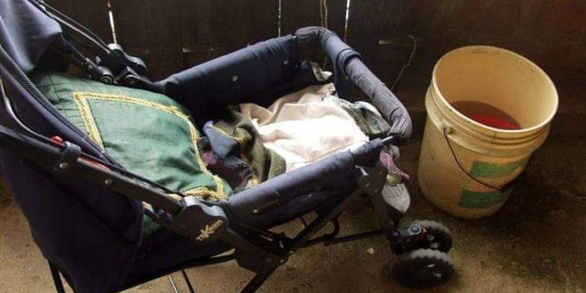 Bebé murió ahogada en balde con agua