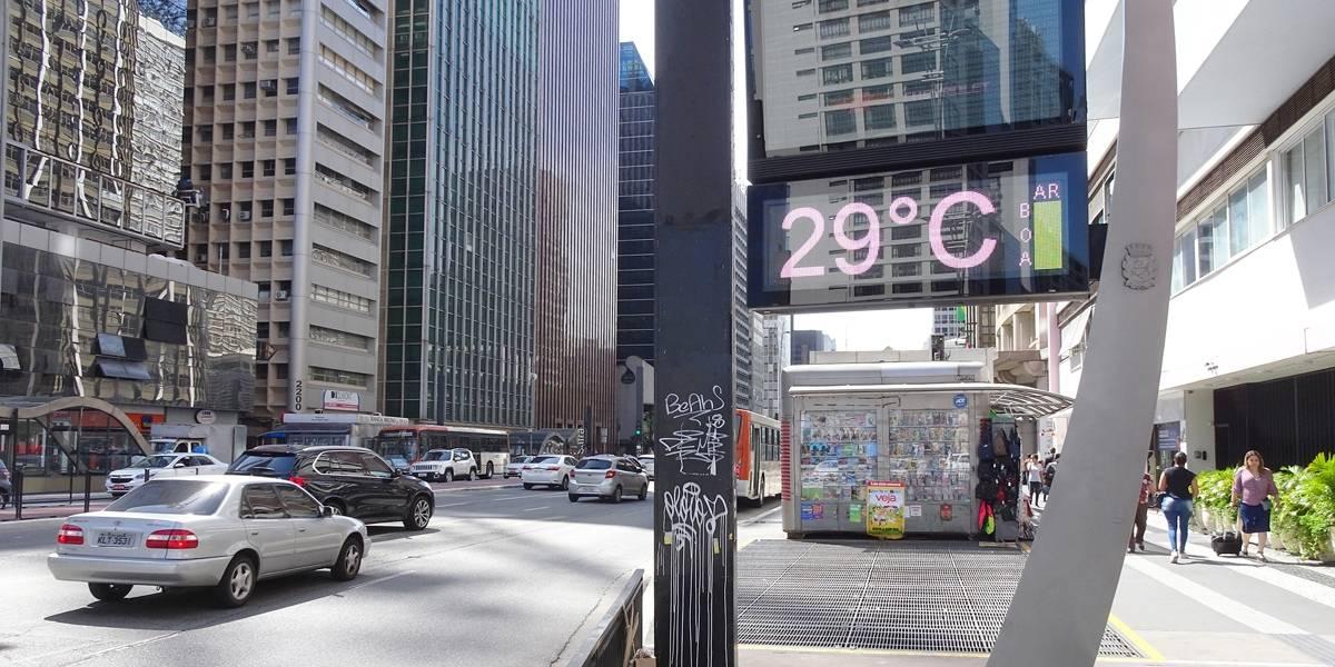 Previsão do Tempo: temperatura chega a 29ºC nesta sexta em SP