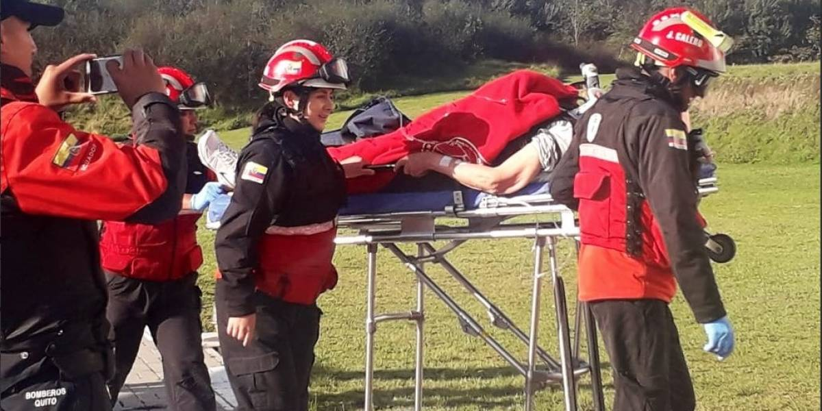 Hombre de tercera edad trasladado en helicóptero tras accidente de tránsito en Los Bancos