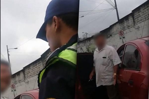 Santo Domingo de los Tsáchilas: Conductor insultó a agente de tránsito