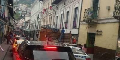 Tráfico en Eel centro de Quito