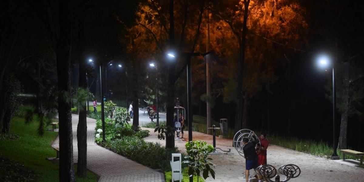 Plaza Berlín cuenta con iluminación, juegos y encaminamientos