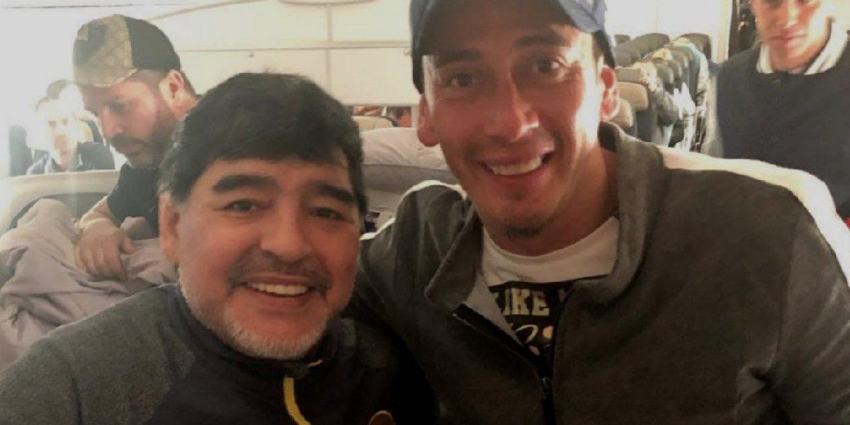 Rubens Sambueza presume reunión con Maradona