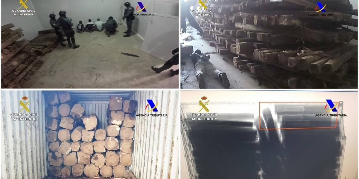 Incautan 1.270 kilos de cocaína en España y Bélgica, procedentes de Ecuador