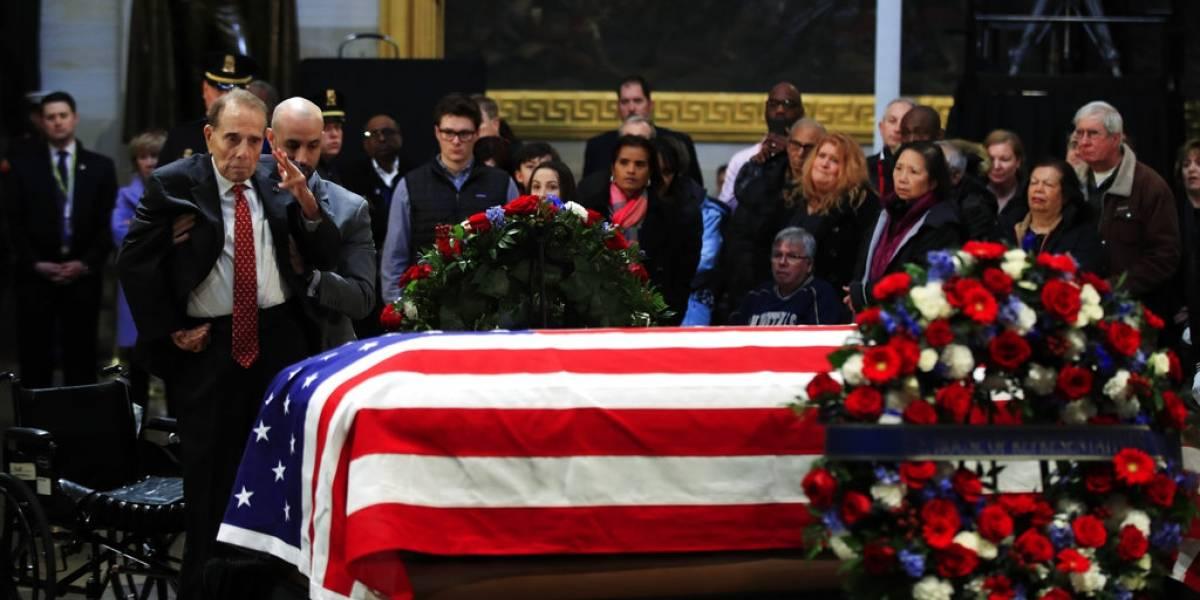 Despiden al expresidente George H.W. Bush con elogios