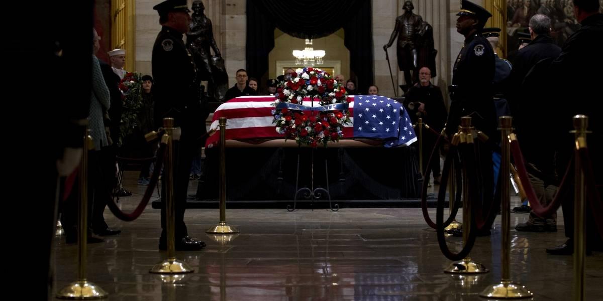 Tregua política para despedir a George H.W. Bush