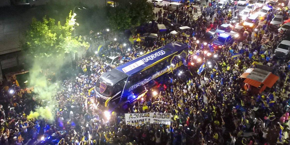 VIDEO: Afición de Boca despidió de manera espectacular al club antes de su viaje a Madrid