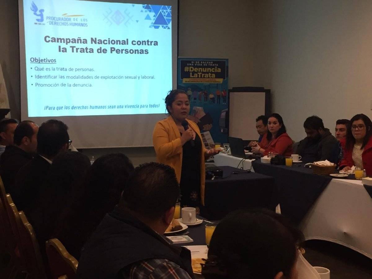 PDH presenta campaña contra la trata
