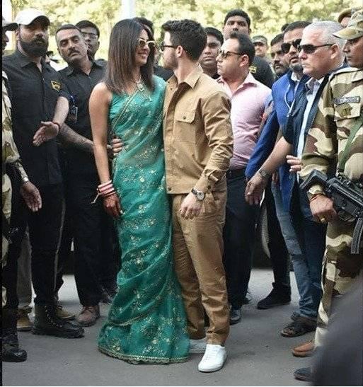 seguridad de la pareja Priyanka Chopra y Nick Jonas