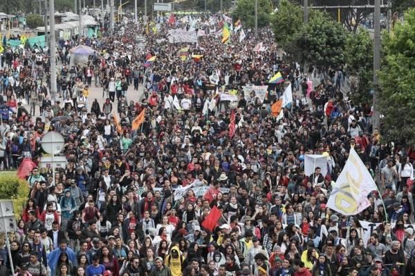 Marchas de estudiantes en Bogotá