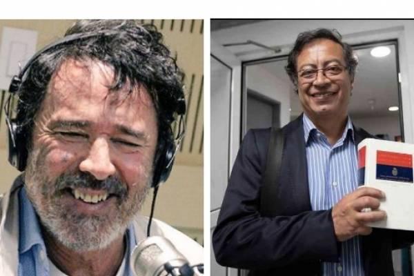 Simón Vélez y Gustavo Petro