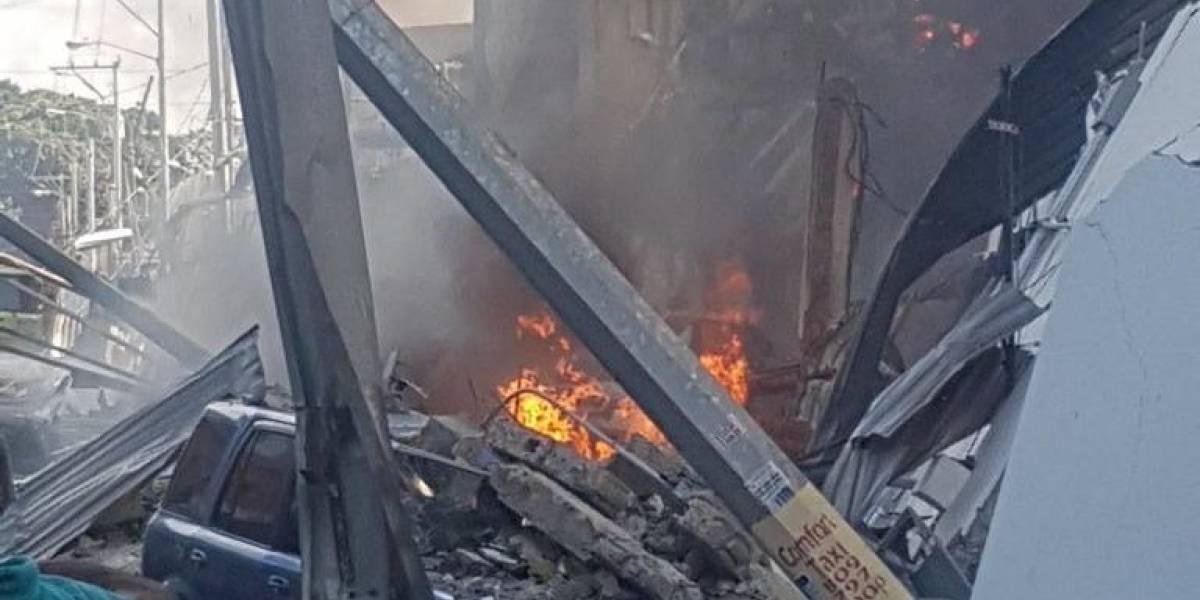 Nueve estudiantes con heridas leves por explosión en fabrica Polyplas