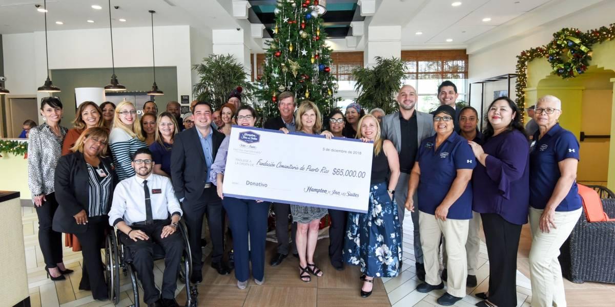 Hampton Inn dona 65 mil a diversas organizaciones