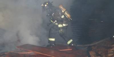 Incendio en aserradero de ruta al Pacífico