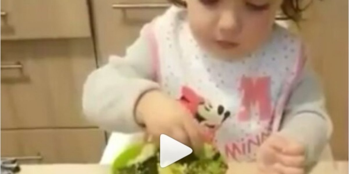 VÍDEO: menininha recusa nutella por uma tigela de brócolis e vira viral