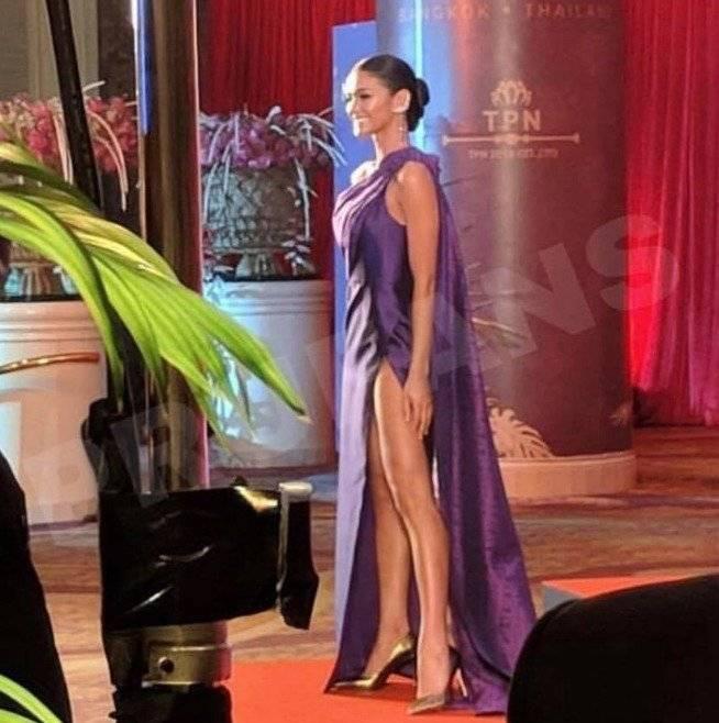 Kiara Liz Ortega en el Thai Night en Miss Universo 2018. Fotos Facebook