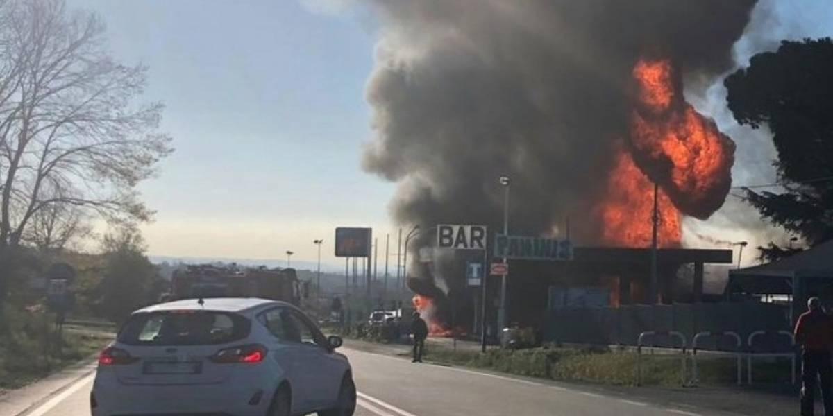 Dos muertos en explosión en gasolinera al norte de Roma