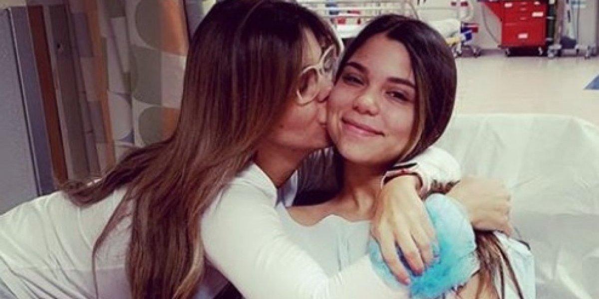 Bebe Maldonado muestra resultado final de la operación de su hija