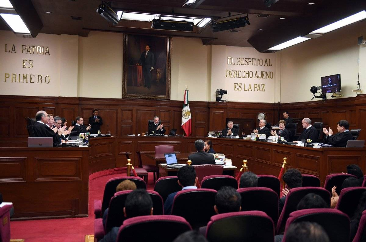 Sala de la Suprema Corte de Justicia de la Nación. Cuartoscuro.
