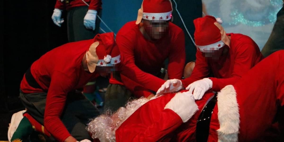 """Adolescentes en conflicto presentan la obra de teatro """"Una Navidad en el Polo Norte"""""""