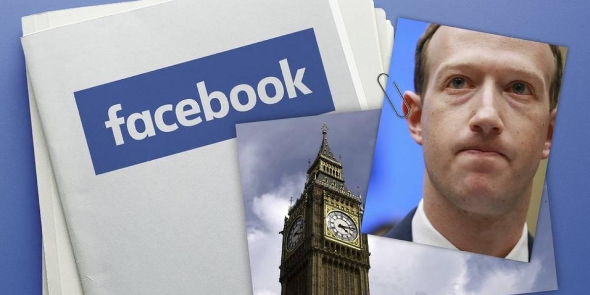 Lo que dicen de Facebook -y sus estrategias- los correos confidenciales de Zuckerberg publicados por el parlamento británico
