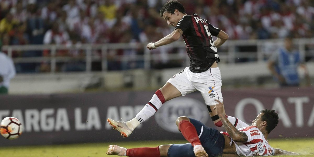 Atlético Paranaense le roba un empate a Junior en la primera final de la Copa Sudamericana