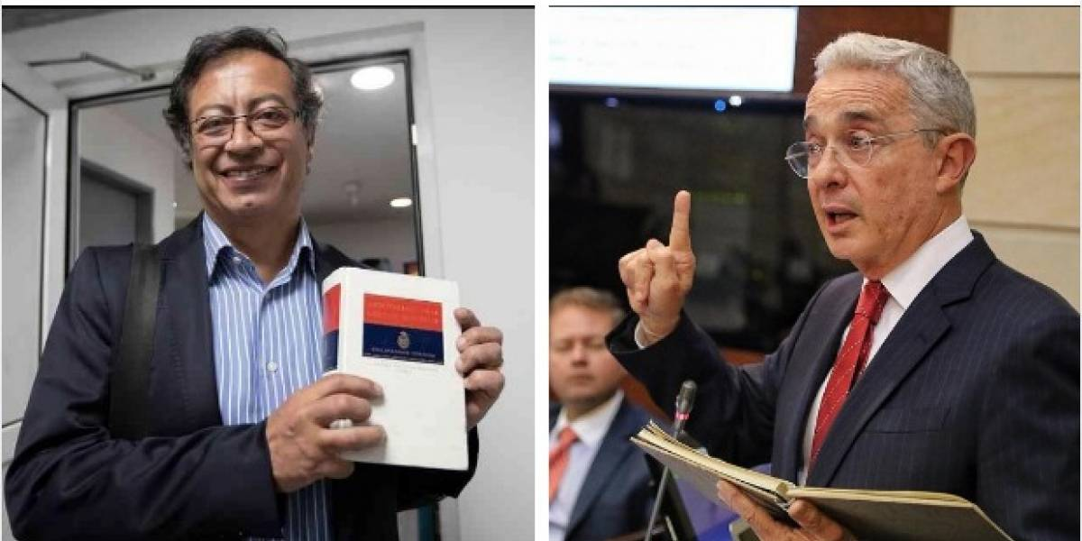 La pelea en redes entre Petro y Uribe parece subir cada vez más de tono