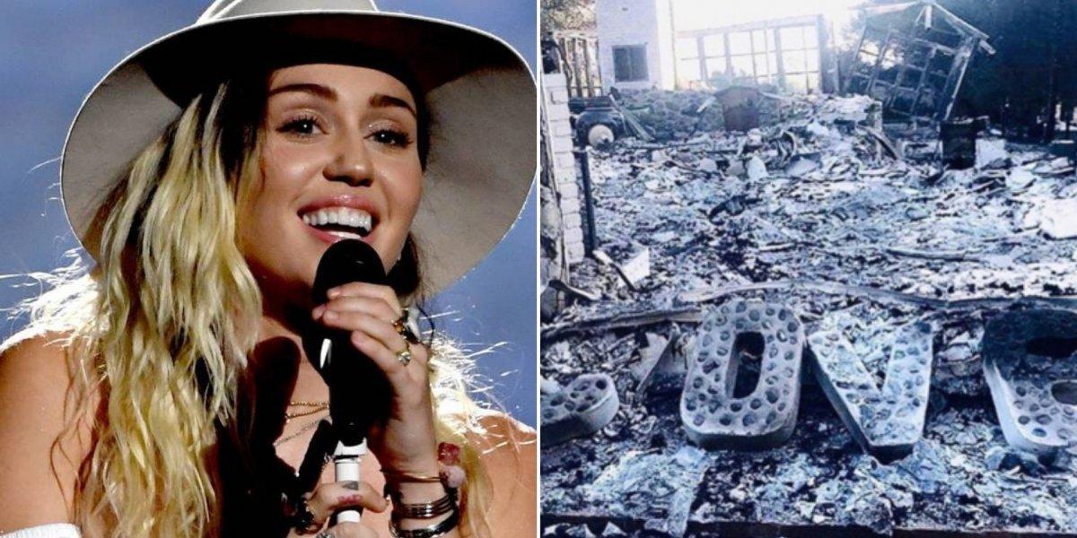 Miley Cyrus revela que teve estranha premonição antes de perder casa nos incêndios da Califórnia