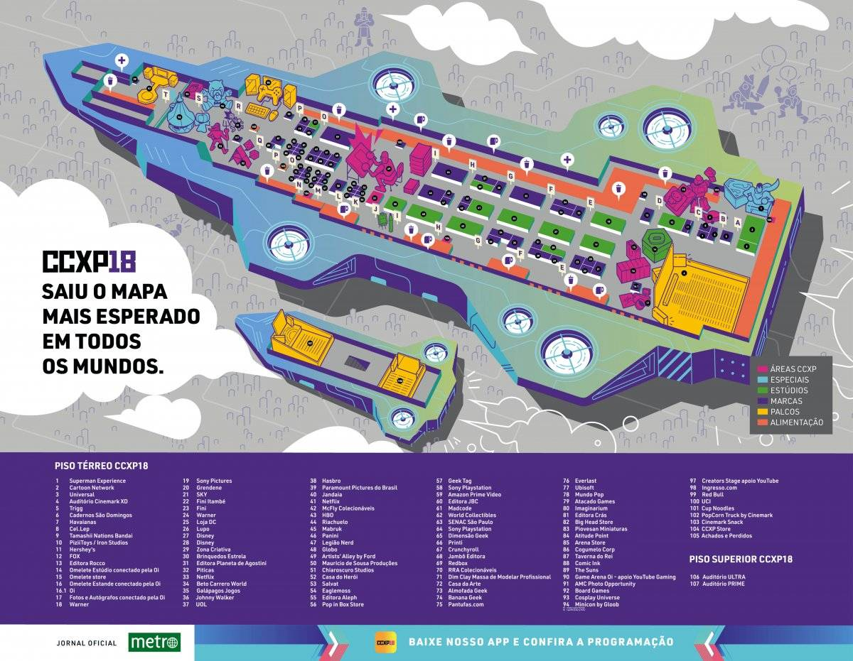 Mapa CCXP 2018