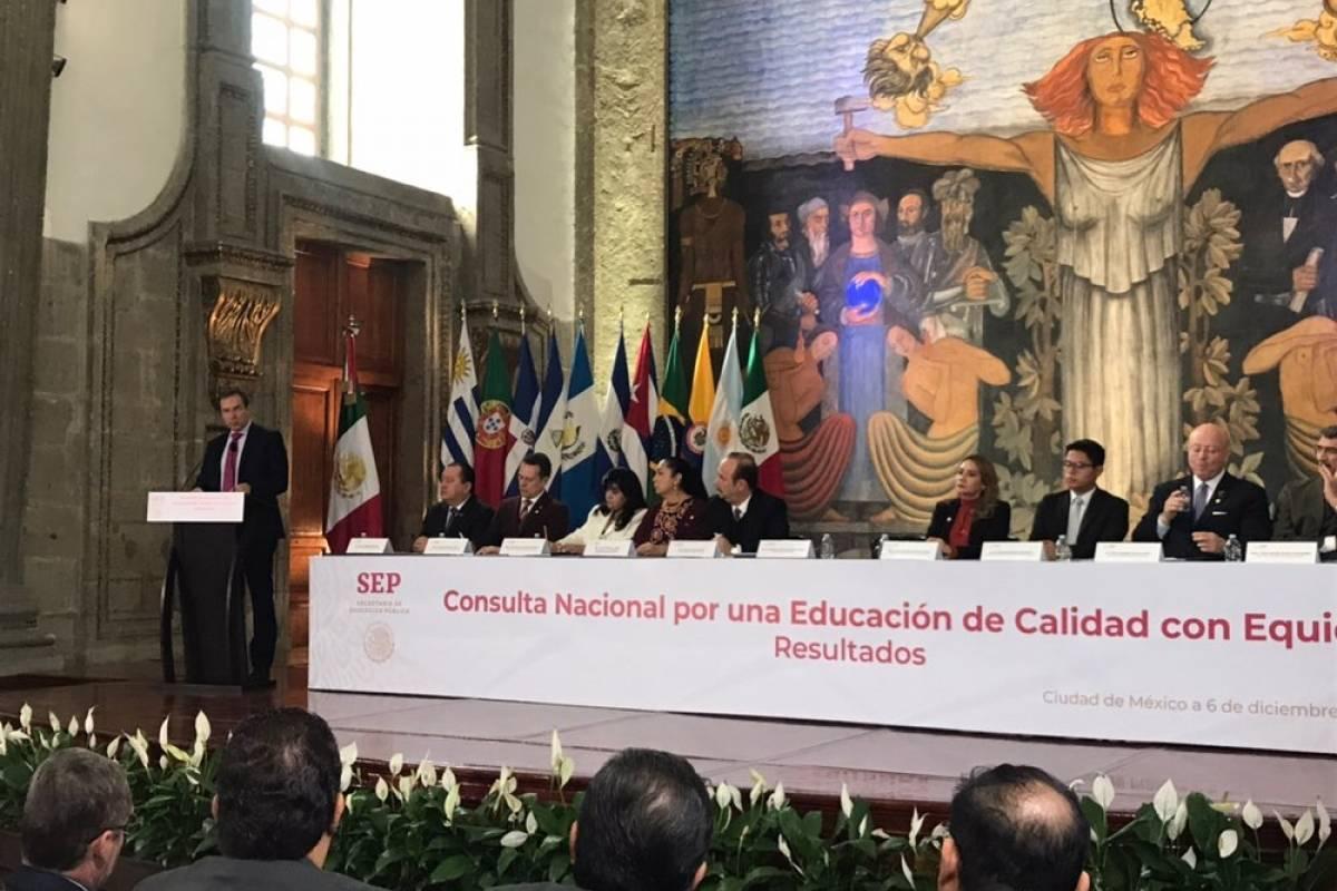 Consulta por una Educación de Calidad Foto: Twitter @SEP_mx