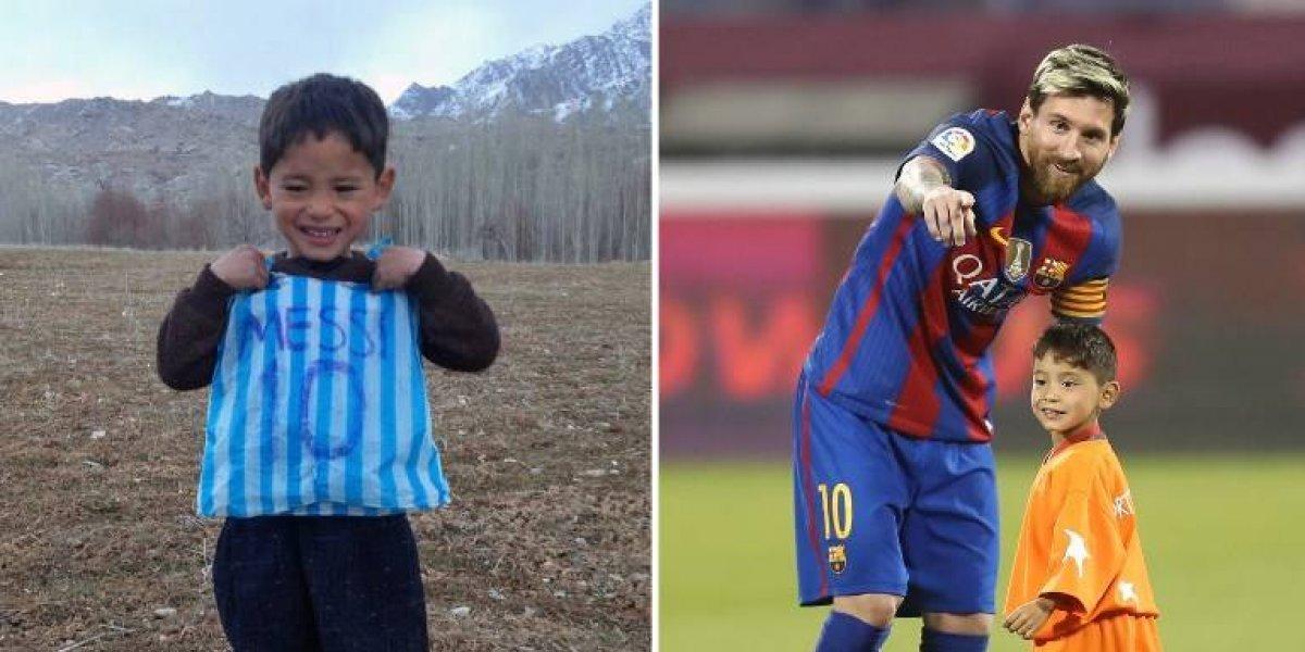 """IMÁGENES. """"El pequeño Messi afgano"""" pasó del sueño a la pesadilla"""