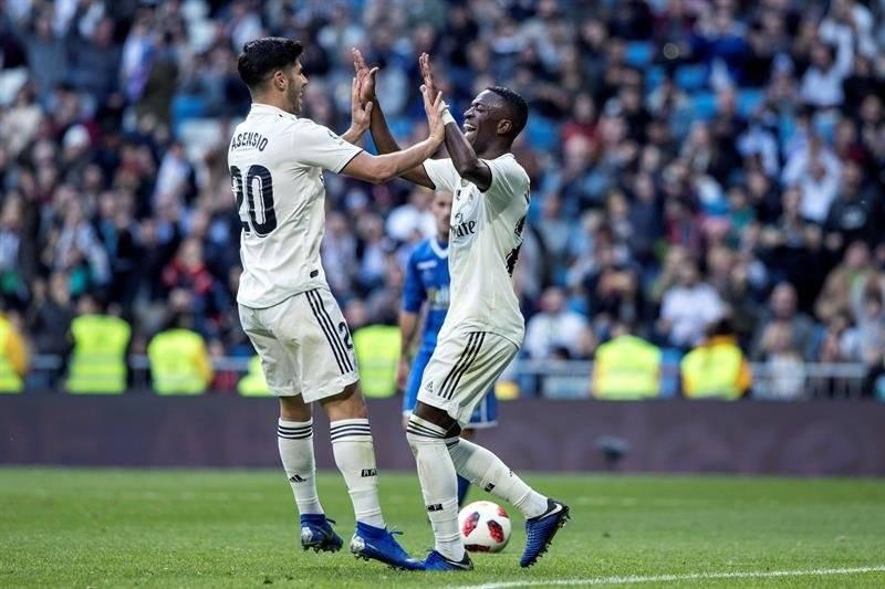 El Real Madrid terminó humillando al Melilla en el Santiago Bernabéu. EFE