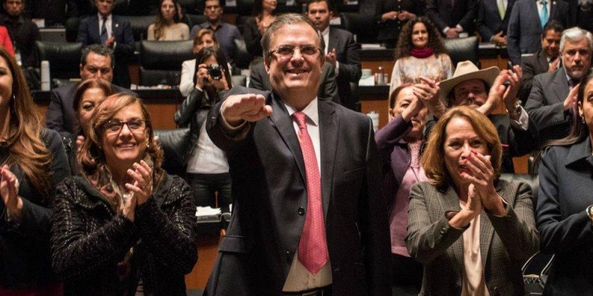 Marcelo Ebrard rinde protesta en el Senado como titular de la SRE