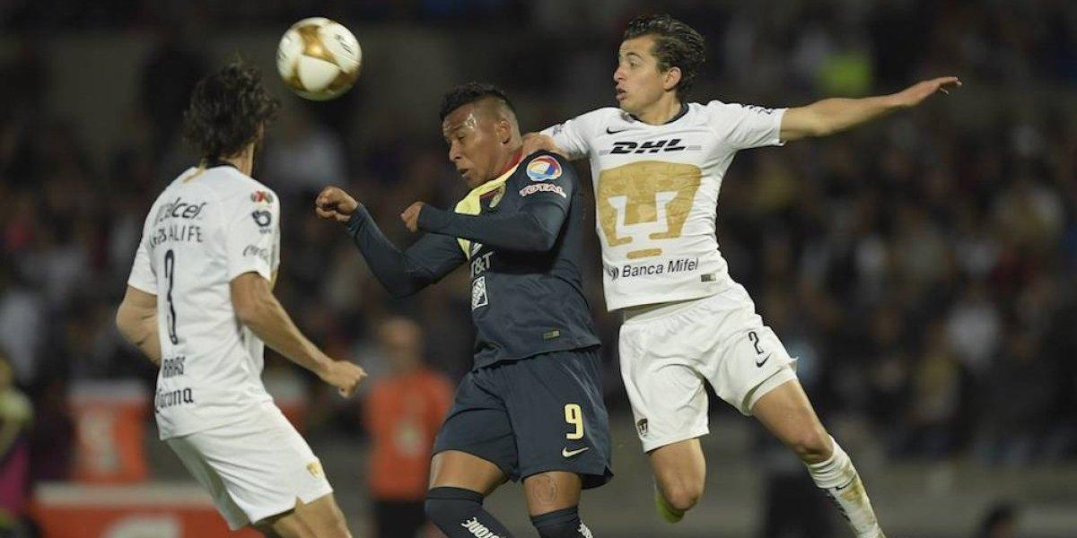 Pumas y América empatan 1-1 en la ida de las semifinales