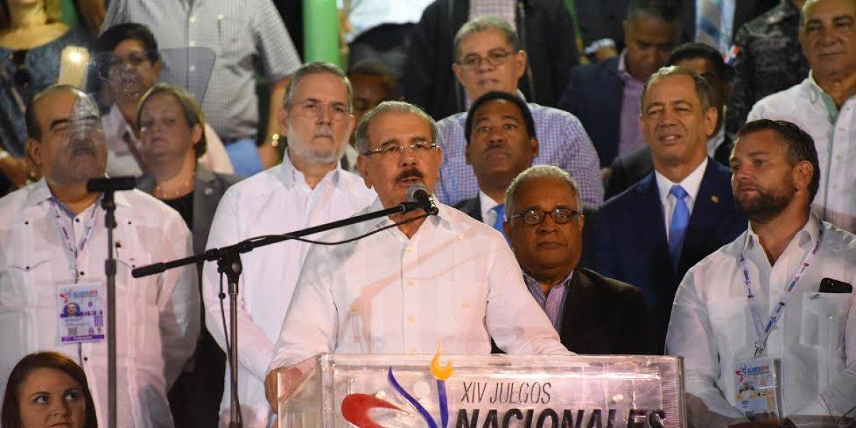 Presidente Medina inaugura los XIV Juegos Nacionales Hermanas Mirabal