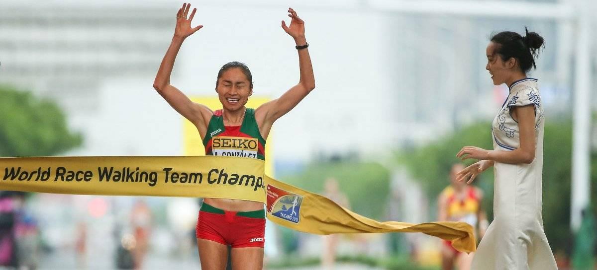 Lupita González es medallista de plata |GETTY IMAGES