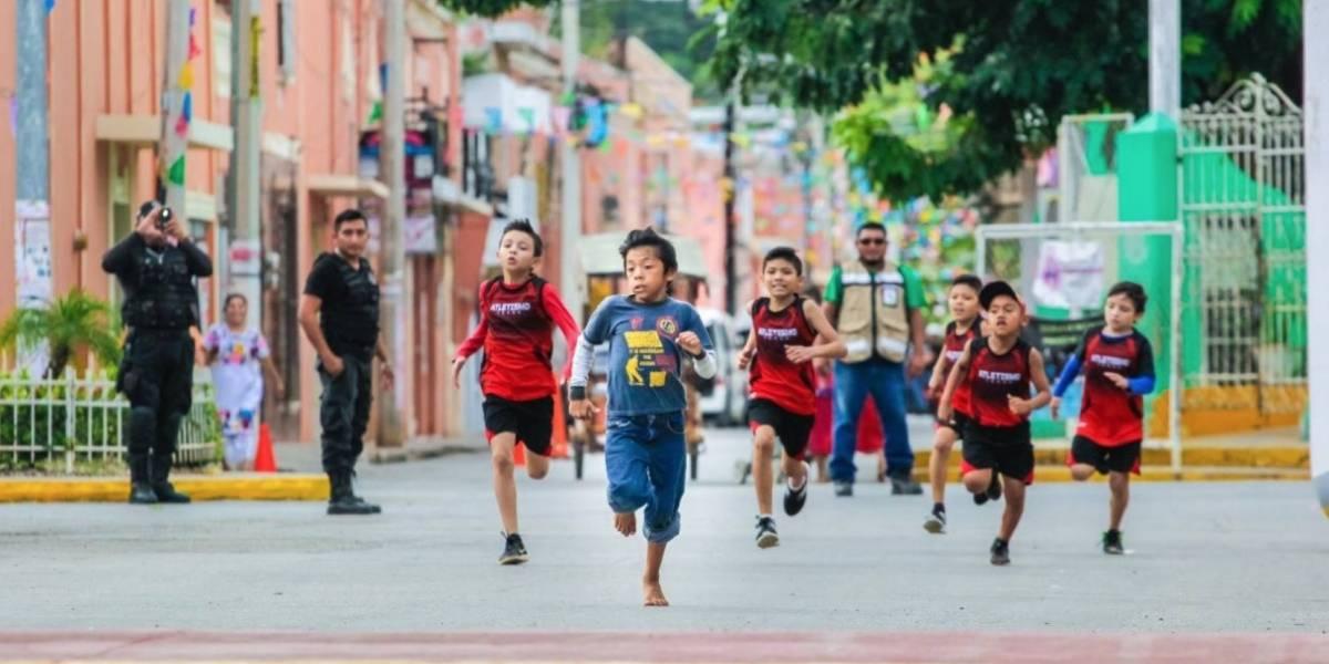 Niño yucateco compite descalzo y gana carrera