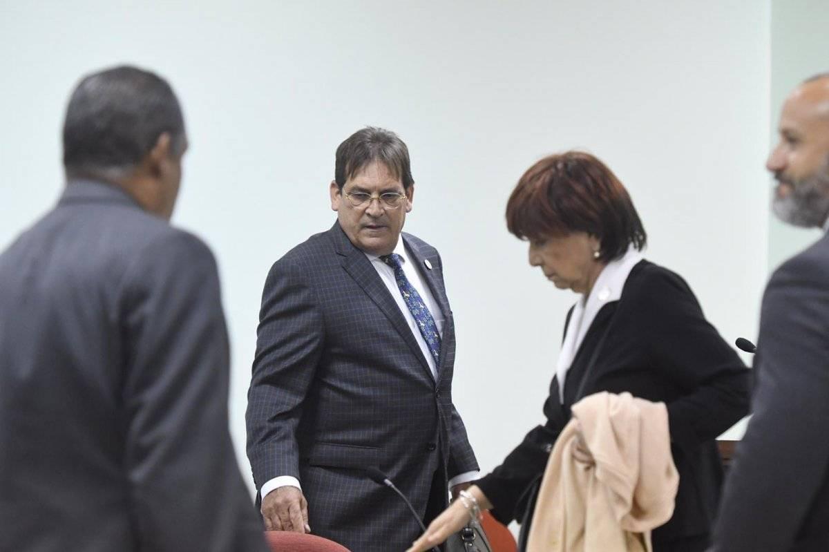Fiscales de la Oficina del FEI que presentaron cargos contra la Secretaria de Justicia, Wanda Vázquez. / Foto: Dennis A. Jones